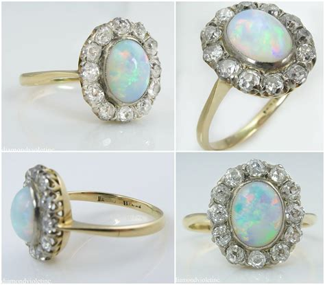 1550 Ct Jumbo Size Yellow Opal 2 73ct antique vintage australian opal engagement wedding 18k from diamondviolet on ruby