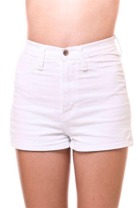 Highwaist White white high waisted jean shorts bbg clothing