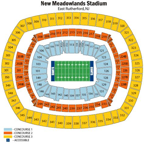 metlife stadium seating chart giants new york giants vs ta bay buccaneers september 16