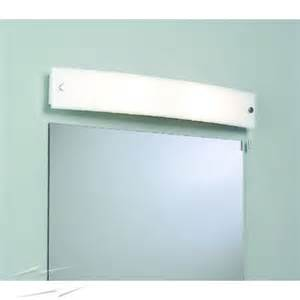 curve bathroom wall light with switch and frosted glass