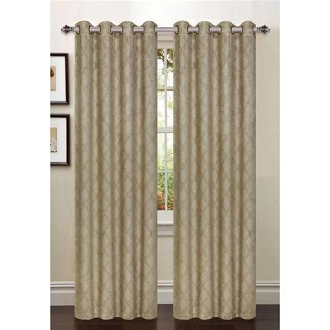 54 x 84 curtains 1 pcpatterned blackout curtains 54 quot w x 84 quot l taupe