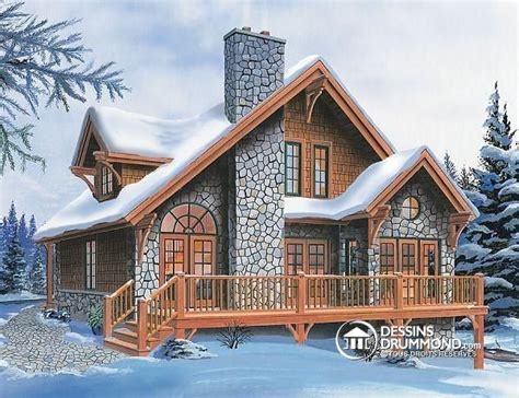 w3969 scandinavian rustic ski chalet plan with 3 bedroom 2 family 165 best images about plan de chalet dessins drummond
