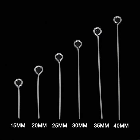 Tg117 Metal 15 Mm wholesale 200pcs lot 6 size 15mm 20mm 25mm 30mm 35mm 40mm stainless steel eye pin for jewelry