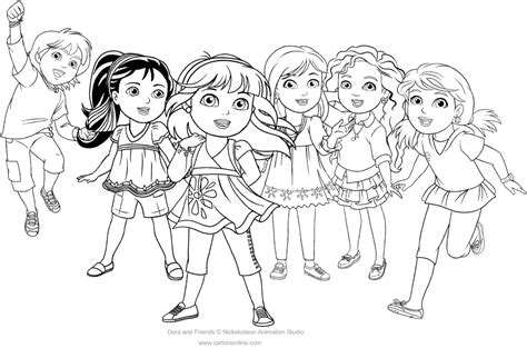 coloring pictures of dora and friends dora and friends coloring page to print coloring page