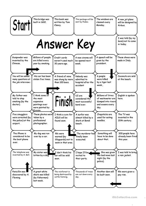 let s teach english passive voice board game board game passive voice worksheet free esl printable