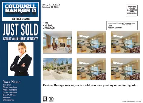 templates from other realtor post cards just sold coldwell banker eddm just sold template 3 cheap price