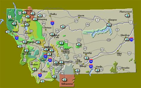 montana road conditions map northwest hiker presents webcams and road conditions in montana
