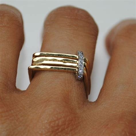 design ring ideas square rings design ideas with gold and silver material