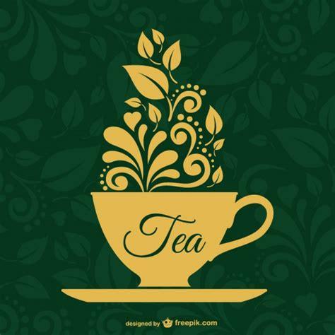 tea label design vector vintage tea cup vector free download
