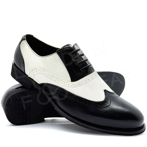 gangster shoes new mens two tone gangster patent leather brogues wingtip