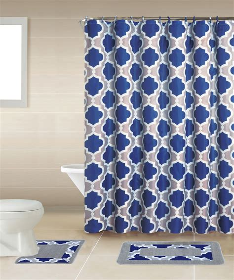 shower curtain rug set geometic helix swirls shower curtain with hooks bathroom