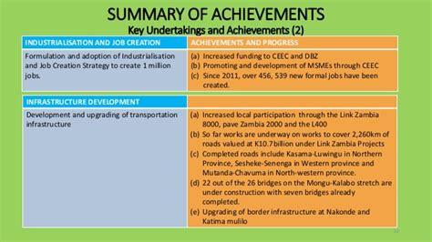 presentation on zambia s 2014 economic performance and