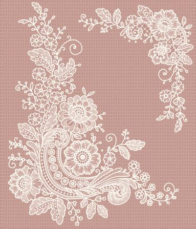 Four Flowers Decoarted Lace Design Collar White 165798017 corner lace clip gettyimages jpg 383 215 447