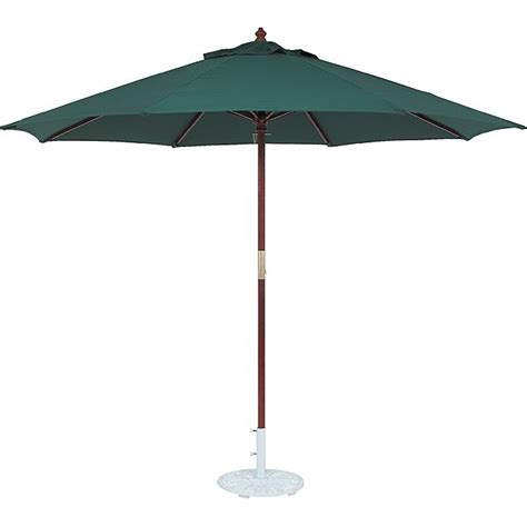 World Market Patio Umbrella Tropishade 11 Ft Wood Market Umbrella With Green Olefin Cover By Tropishade Gardens The
