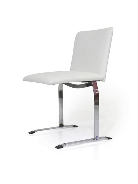 White Vinyl Dining Chairs Saporiti Dining Chairs In White Vinyl On Chrome Steel Frame For Sale At 1stdibs