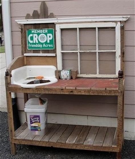 wood pallet potting bench pdf diy making a potting bench from pallets download mini