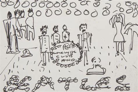 sketch album lennon s original sketch of the sgt pepper cover