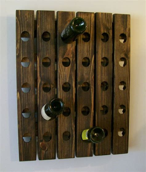 Handmade Wine Rack - handmade riddling wine rack wood wall hanging ebay
