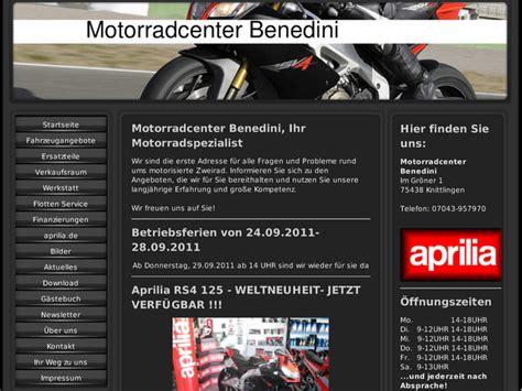 Aprilia H Ndler Nrw Motorrad by Motorradcenter Benedini In Knittlingen Motorradh 228 Ndler