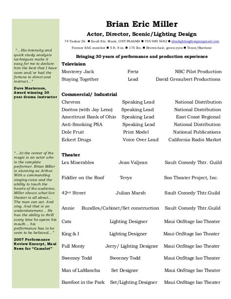 Performance Resume by Performance Resume 2015