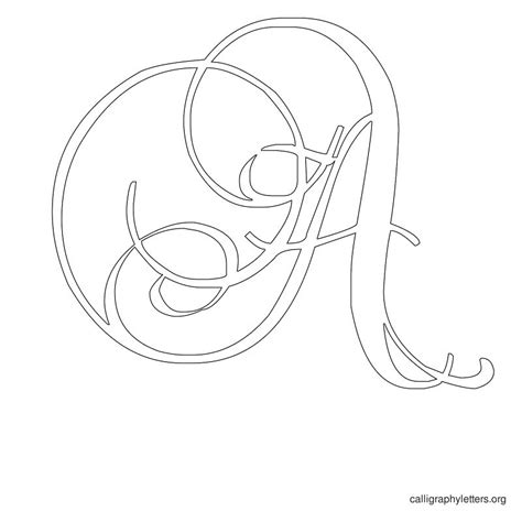 printable calligraphy letter stencils calligraphy