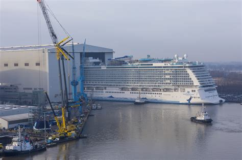 norwegian cruise bliss one step closer to bliss norwegian s latest ship floats