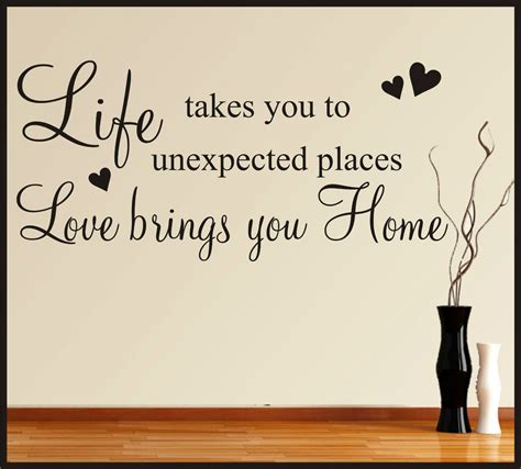 Home Decor Quote Family Home Wall Stickers Quotes Words Phrases Sayings Home Decor Ebay