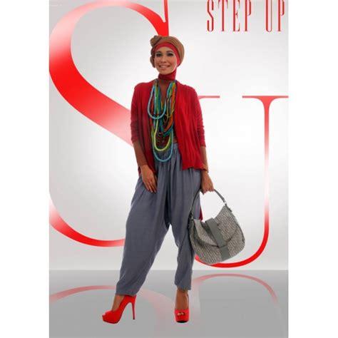 Kaos Cardi step up arvina cardi merah baju muslim gamis modern