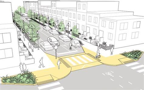 geometric design criteria for urban streets neighborhood street national association of city