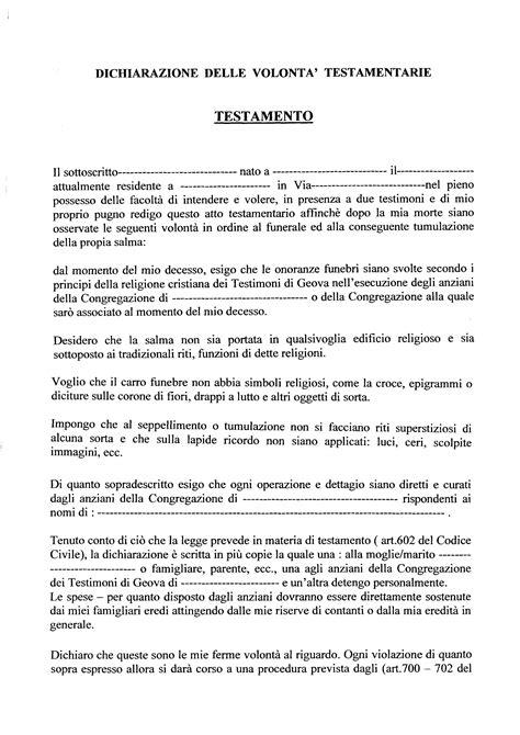 modello di testamento olografo politi testamento a favore dell organizzazione dei