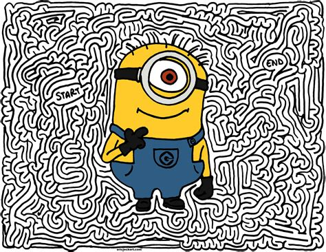 printable minion maze pin patrick spongebob coloring page 187 pages for kids to