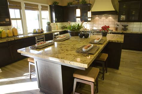 t shaped kitchen island with wooden countertop home eclectic mix of 42 custom kitchen designs