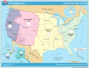 Map Of The Time Zones by United States Time Zone Map Mapsof Net
