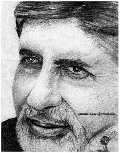 amitabh bachchan drawing by ashish ojha