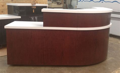 Church Desk 7 foot l shaped welcome center envisionary images