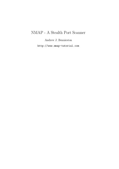 nmap tutorial point nmap tutorial