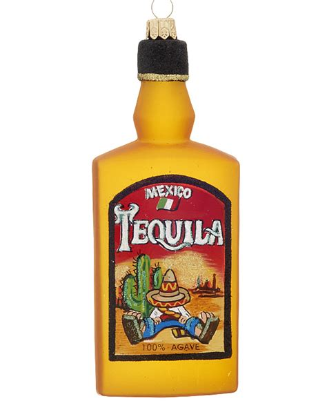 Tequila Bottle   Personalized Ornament