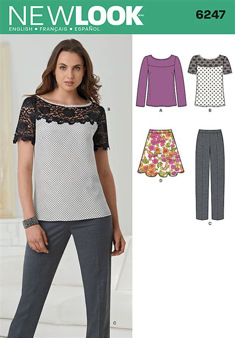 pattern review best patterns 2013 new look 6247 misses top pants and skirt
