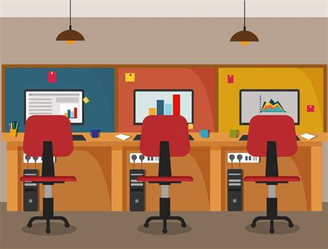eps format office office flat styles background vector 01 vector
