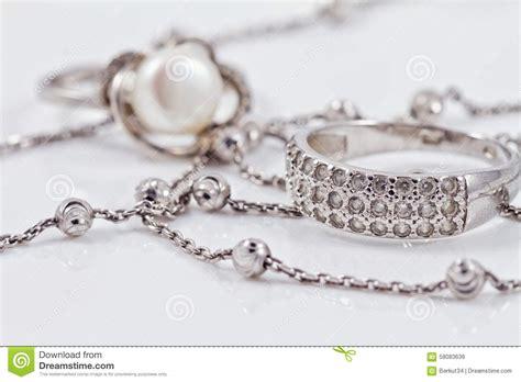 joyeria con cadenas de plata joyer 237 a de plata anillo pendientes y cadena foto de