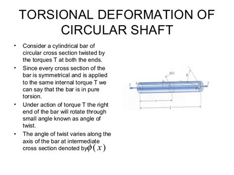 torsion of circular sections torsion force