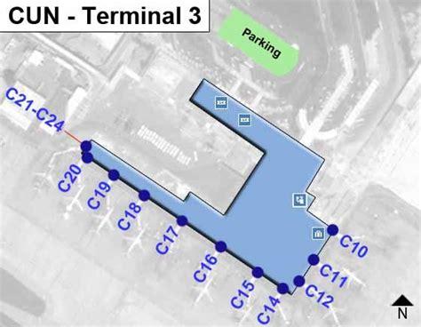 aeropuerto cun cancun airport cun terminal 3 map