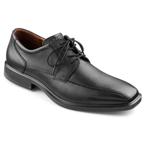 hotter mens road black lace smart shoe