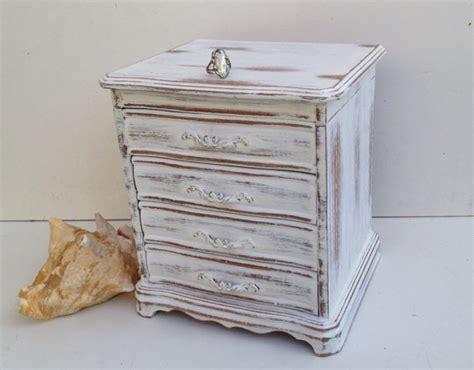 shabby chic jewelry box vintage white jewelry box shabby chic jewelry by shabbyshores