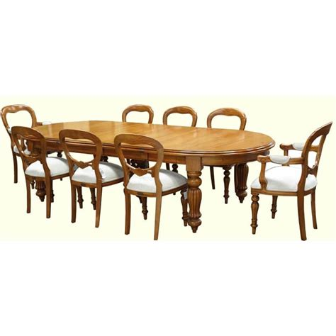 8 Seater Oval Dining Table Dining Table Oval Ended Akd Furniture