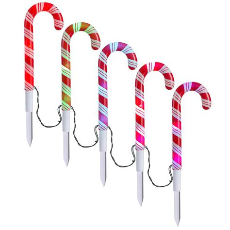 led candy cane path lights christmas solar pathway lights solar lights