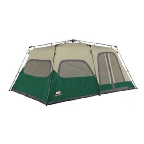 Coleman 10 Person Cabin Tent by Coleman Instant Cabin Tent 10 Person W Fly 14x10 Green Cing Hiking Tents New Ebay