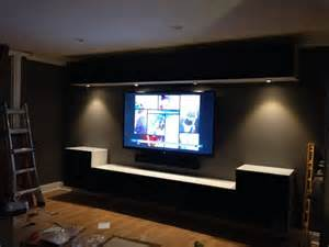 Ikea Besta Entertainment Center Ideas Wall Mounted Ikea Bestas And Cabinet Lights With