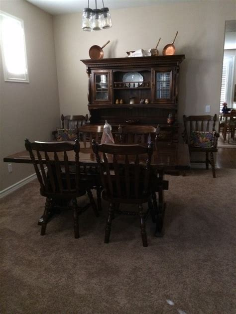 Dining Room Furniture Repair Refinishing Dining Room Furniture Rest Of The Home Is Oak