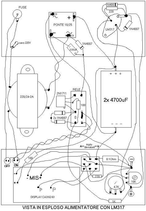 transistor 2n3055 in parallelo alimentatore stabilizzato con lm317 mj2955